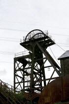 Lewis Merthyr Colliery pithead, Rhondda Heritage Park, South Wales - John Harris - 2010s,2012,ACE,capitalism,capitalist,closed,closing,closure,closures,Coal Industry,Coal Mine,coalfield,coalindustry,collieries,Colliery,culture,deindustrialisation,Deindustrialization,derelict,DERELIC