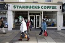 Starbucks coffee shop, High Street, Stratford-upon-Avon. - John Harris - 27-01-2010