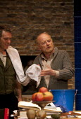Paul Hamilton as Federzoni and Ian McDiarmid as Galileo in A Life of Galileo. RSC, Swan, Stratford-upon-Avon - John Harris - 07-02-2013