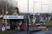 Cars being moved out of the plant by Czech Walon CZ, Honda South Marston plant, Swindon, where 800 jobs are to go. The redundancies are the result of falling demand due to the ongoing recession. - John Harris - 2010s,2013,AUTO,auto industry,AUTOMOBILE,AUTOMOBILES,Automotive,BNL,capitalism,capitalist,car,Car Industry,carindustry,cars,CZ,Czech,distributing,distribution,DOWNTURN,driver,drivers,driving,EBF,Econo