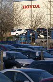 ECM moving cars out of the plant. New cars parked outside the Honda South Marston plant, Swindon, where 800 jobs are to go. The redundancies are the result of falling demand due to the ongoing recessi... - John Harris - 10-01-2013