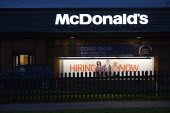 Hiring now, Fast food chain McDonald's is creating 2500 new jobs in the UK this year following the 3500 new employees they hired last year. Banbury - John Harris - 2010s,2013,adolescence,adolescent,adolescents,advertisement,advertisements,advertising,application,applying,AUTO,AUTOMOBILE,AUTOMOBILES,AUTOMOTIVE,BAME,BAMEs,banner,banners,black,BME,bmes,buy,buyer,bu