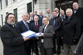 The Shrewsbury Pickets Campaign led by former Pickets Ricky Tomlinson and Terry Renshaw with Andy Warren (son of deceased picket Des Warren) submitting their case to the Criminal Case Review Commissio... - John Harris - 03-04-2012