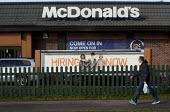 Hiring now, Fast food chain McDonald's is creating 2500 new jobs in the UK this year following the 3500 new employees they hired last year. Banbury - John Harris - 2010s,2013,adolescence,adolescent,adolescents,advertisement,advertisements,advertising,application,applying,BAME,BAMEs,banner,banners,black,BME,bmes,casual workers,catering,cultural,diversity,EARNINGS