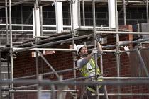 Construction of new social housing, Stratford-upon-Avon, Warwickshire - John Harris - 28-02-2013
