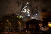 New blast furnace No 4, Port Talbot Steelworks, an integrated steel production plant capable of producing nearly 5 million tonnes of steel slab per annum, West Glamorgan, Wales - John Harris - 15-02-2013