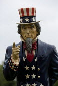 An Uncle Sam figure. Uncle Sam was a national personification of the power of America and a nickname for the U.S. federal government Uncle Sam is derived from two earlier symbolic figures in American... - John Harris - 19-05-2013