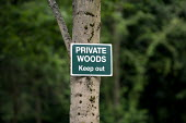 Private Woods Keep Out sign, Wellesbourne Wood Warwickshire. - John Harris - 29-04-2013