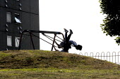 Children playing on the swings, Druids Heath, Birmingham - John Harris - 26-06-2013