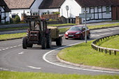 Car following a slow moving tractor and trailer, Warwickshire - John Harris - 26-06-2013