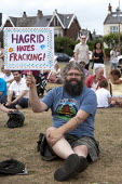 Gathering on the Green, protest against sale gas extraction by RAFF - Residents Action on Fylde Fracking, Lytham St Annes, Lancashire - John Harris - 20-07-2013