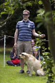 The winner of the owner most like their dog competition, Alveston Summer Fete on the village green, Warwickshire - John Harris - 29-06-2013