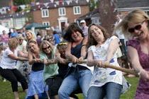 Mothers verses children Tug of War, Alveston Summer Fete on the village green, Warwickshire - John Harris - 29-06-2013