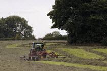 A Hay rake. Silage making, Lancashire - John Harris - 28-08-2013