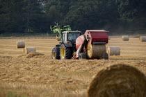 A Round bailer bailing silage, Warwickshire - John Harris - 28-08-2013
