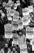 Over 10,000 marched through Cheltenham on the 5th anniversary of the ban on trades union membership GCHQ for which members were then sacked. GCHQ Trade unions, Cheltenham - John Harris - 28-01-1989