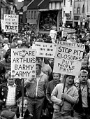 Miners protest Mansfield, Nottinghamshire, May Day. - John Harris - Miner's Strike,the,Miners Strike,Miners Strike,Miner's Strike,NUM,num,protest,demonstration,strike,strikes,Trade Union,Trades Union,trade union,trades union,trades unions,trade unions,striking,activis