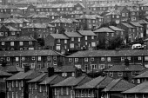 Council housing estate, Wybourn, Sheffield, Yorkshire - John Harris - 1980s,1984,cities,city,Council,EBF,Economic,Economy,home,homes,house,houses,housing,Housing Estate,local authority,Sheffield,terrace,terraced,terraces,urban,Yorkshire