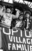 Cheering at WAPC rally Chesterfield at the end of the Miners strike, International Womens Day - John Harris - 09-03-1985