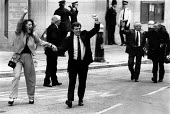 Gerry Hunter and Richard McLlkenny, The Birmingham Six on their release from prison outside the High Court, Old Bailey, London - John Harris - 14-03-1991