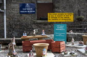 Dartmoor Prison Museum, Garden ornaments made by prisoners for sale, Devon - John Harris - 26-02-2014