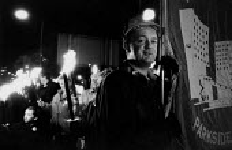 Parkside Colliery NUM tourchlight protest against pit closures, Liverpool - John Harris - 18-10-1992