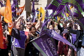 Public sector workers strike over pay, pensions and workload, Strike rally, Victoria Square, Birmingham - John Harris - 10-07-2014