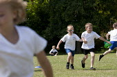 Commando Joe; wake and shake and initiative to improve attendance and punctuality by working with an ex member of the armed forces, playing field, St Richard's C E First School, Evesham - John Harris - 02-07-2014