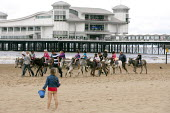 School trip to the seaside, Weston Super Mare, Somerset - John Harris - 04-07-2014