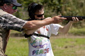 Clay Pigeon Shooting lesson from champion shot John Timmis for a novice at a Club in Warwickshire - John Harris - 23-07-2014