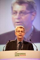 Peter McParlin POA speaking, TUC, Liverpool 2014 - John Harris - 09-09-2014