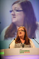 Yvonne Pattison Napo speaking, TUC, Liverpool 2014 - John Harris - 09-09-2014