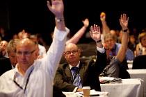 Stephen Gillian POA gen sec voting, TUC, Liverpool 2014 - John Harris - 2010s,2014,conference,conferences,democracy,Hands up,Liverpool,member,member members,members,people,POA,trade union,trade union,trade unions,trades union,trades union,trades unions,TUC,TUC Congress,vo