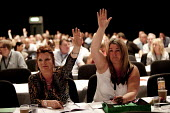 NGSU voting, TUC, Liverpool 2014 - John Harris - 2010s,2014,conference,conferences,democracy,FEMALE,Hands up,Liverpool,member,member members,members,people,person,persons,trade union,trade union,trade unions,trades union,trades union,trades unions,T