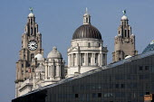 The Royal Liver Building and Mann Island, UNESCO World Heritage waterfront, Liverpool 2014 - John Harris - 10-09-2014