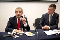 John Hannett Gen Sec USDAW, Mike Clancy Gen Sec Prospect, Prospect Fringe meeting TUC, Liverpool 2014 - John Harris - 09-09-2014