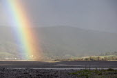 Rainbow, breached Porlock Ridge and Saltmarsh, Porlock Bay, Somerset - John Harris - 2010s,2014,beach,BEACHES,CLIMATE,coast,coastal,Coastal Erosion,coasts,conditions,costal defences,country,countryside,defence,defences,DEFENSE,defenses,eni,environment,Environmental Issues,eroded,erosi