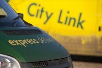 Empty City Link vans, closed distribution centre, Coventry - John Harris - 30-12-2014