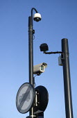 CCTV and monitoring equipment at a pedestrian Pelican crossing, Stratford-Upon-Avon, Warwickshire - John Harris - 04-06-2015