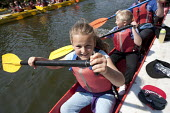 Racing each other. Pupils Bellboating on the river Avon, St Richard's First School, Evesham - John Harris - 11-06-2015