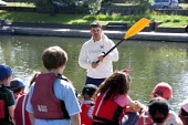 Pupils Bellboating on the river Avon, St Richard's First School, Evesham - John Harris - 11-06-2015