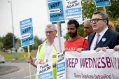 Tom Watson MP Keep Wednesbury Working. CWU activists and members protest outside Dixons Carphone distribution centre, Wednesbury against 500 job losses - John Harris - 12-06-2015