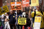 The Frack Stops Here! Protest lobby against Fracking in Lancashire where the council is meeting to consider an application by Gas exploration company Cuadrilla to do so. Preston - John Harris - 23-06-2015