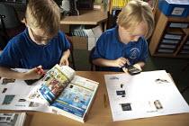 Mathematics lesson. Primary school, St Richards First School, Evesham, Worcestershire - John Harris - 06-07-2015