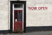 Now open. Closed shop with weeds grrowing at the door, Worcester, Worcestershire - John Harris - 25-06-2015