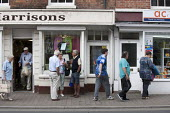 Pensioners talking and shopping, High Street. Pershore, Worcestershire - John Harris - 25-06-2015