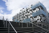 Multi story car park Birmingham Eastside, architectural cladding finished with multi-faceted panels. - John Harris - 27-06-2015