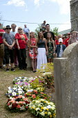 Wreath laying at the grave of James Hammett, Tolpuddle Martyrs' Festival. Dorset - John Harris - 19-07-2015