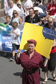 Rosie the Riveter, Tolpuddle Martyrs Festival. Dorset - John Harris - 19-07-2015