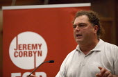 Jeremy Corbyn Rally Nottingham Manuel Cortes TSSA speaking - John Harris - 20-08-2015